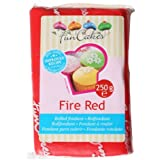 FunCakes Pâte à Sucre Rouge Feu 250 g
