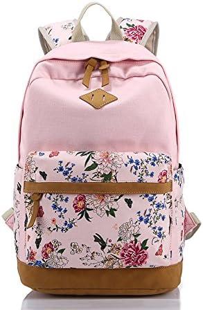 Canvas Backpack for Girls Women Casual BookBag Laptop Bag Travel Bag Sports Daypack