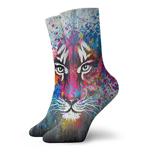 Runner Tigers Football (Socks Colorful Tiger Face Women & Men Socks Soccer Sock Sport Tube Stockings Length 11.8Inch)