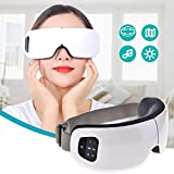Jannyshop 6S Eye Massager with Wireless Digital Music Air Pressure Heat Compression Therapy