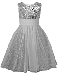 Sequin Baby Flower Girls Dresses Occasion Dresses Long