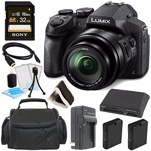 Panasonic Lumix DMC-FZ300 Digital Camera + 32GB Green's Camera Bundle 2