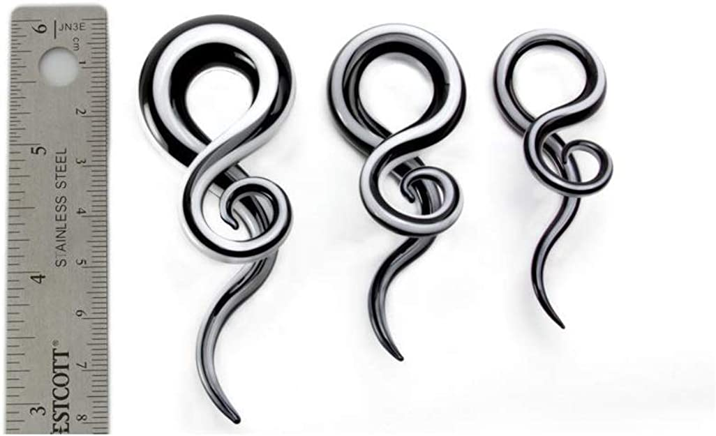BLACK Curls and Loops Glass Hanger Style Price Per 2