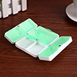 BOSOMEE 7 Days Foldable Pill Box Mini Container Drug Cute Pill Boxes