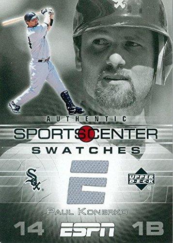 Autograph Warehouse 343383 Paul Konerko Player Worn Jersey Patch Baseball Card - Chicago White Sox 2005 Upper Deck ESPN Swatches No. GU-PK