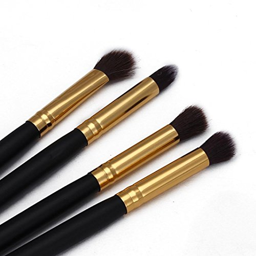 Fullkang 4Pcs Makeup Cosmetic Tool Eyeshadow Powder Foundation Blending Brush Set