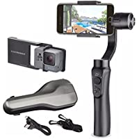 Zhiyun Smooth Q w/ Plate, 3-Axis Handheld Gimbal Stabilizer for Smartphone and Gopro Hero 5 / 4 /3 Wireless Control Vertical Shooting Panorama Mode (Zhiyun Smooth-Q Black)