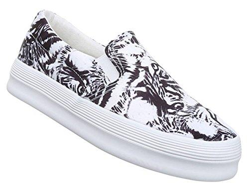Damen Halbschuhe Lace up Schuhe Slipper Weiß Schwarz beige pink 36 37 38 39 40 41 Weiß Schwarz
