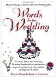 Words for the Wedding, Wendy Paris and Andrew Chesler, 0399526528