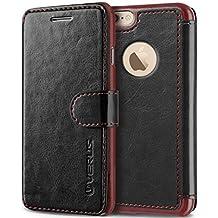 iPhone 6S Plus Case, Verus [Layered Dandy][Black] - [Card Slot][Premium Leather Wallet][Slim Fit] For Apple iPhone 6S Plus 5.5