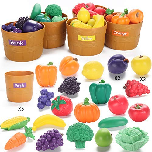 JIETENGFEI Fruit Veg Play Food (Fruit Veg 5 Set) (Food Vegan Play)