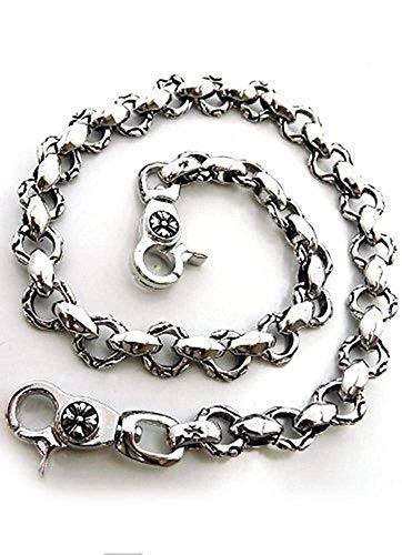 [해외]지갑 체인 망 간단 하 고 엄선 한 디자인 지갑 체인 실버 조각 바람 [w4- / Wallet Chain Men`s Simple and Sticking Design Wallet Chain Silver Sculpture Style [w4-