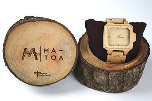 Wooden Watch for Men and Women - Flores Natural Canadian Maple Wood Grain - Wrist Watches - Matoa by WÜD