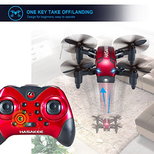 HASAKEE H6 Foldable RC Mini Drone with Altitude Hold and Headless