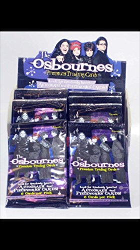 (4) Pack of 2002 the Osbournes Tv Show Sealed Trading Cards Unopened Inserts Autographs Ozzy Sharon Kelly Jack Non-sport Cards