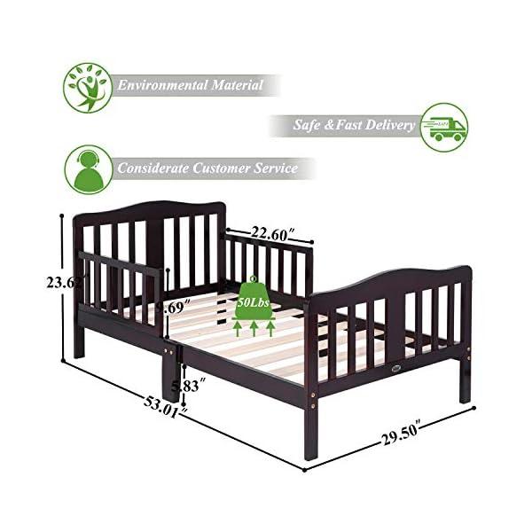 Bonnlo Contemporary Wooden Toddler/Kid Bed Frame Kids Bedroom Furniture 4