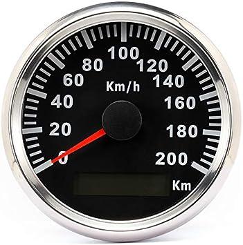 Eling Wasserdichter Gps Tacho Kilometerzähler 200km H Für Auto Motorrad Buggy Mit Hintergrundbeleuchtung 85mm 12v 24v Auto