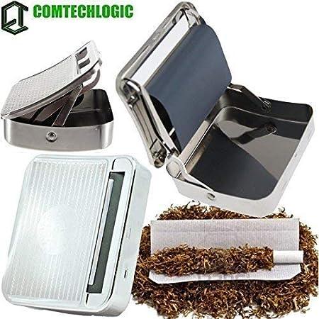 Comtechlogic® Metal Tabaco de Liar Cigarrillos Máquina Automático Roller Caja Lata Soporte Caja de Almacenamiento: Amazon.es: Hogar