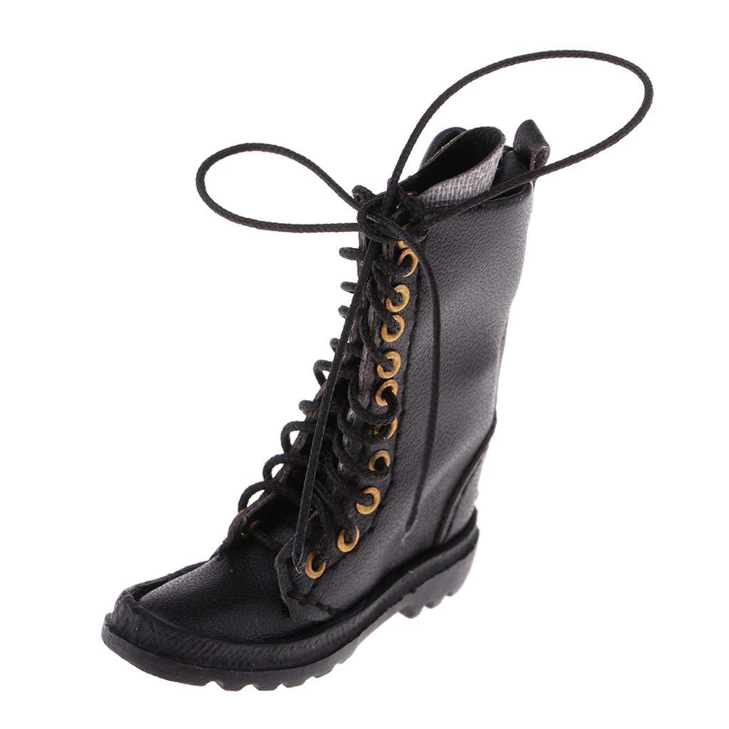 NON Baoblaze 1/6 Botas de Militares Zapatillas de PU Accesorios de Muñecos y Figuras - marrón