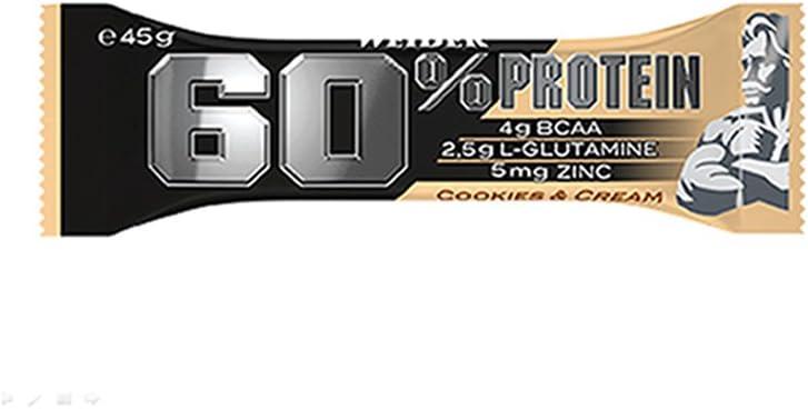 Weider 60% Barritas de Proteínas Cookie Cream - 45 gr