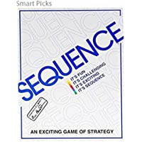 Smart Picks White Sequence Card Game Toy, White, Big Size