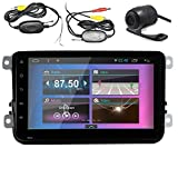Pupug 8 inch Android 4.4 Quad Core Car Stereo GPS Navigation Player Special for Volkswagen/New Magotan/Sagitar/ Golf/ Bora/Touran/ Jetta/New Santana(2013) Support WIFI /mp3/mp4/amfm/Bluetooth/Canbus with Free Wireless Back Camera