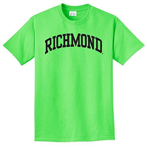 NCAA Richmond Spiders Arch Neon T-Shirt, Neon Green, XX-Large