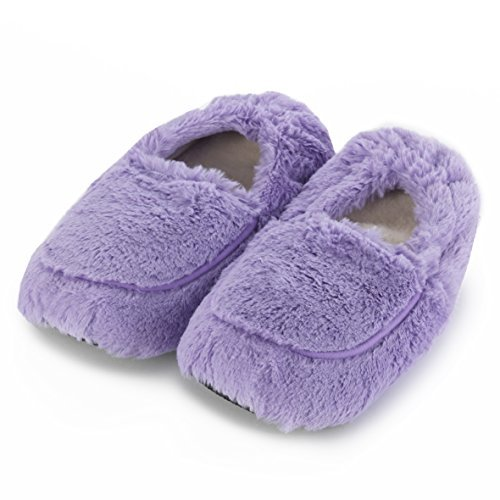 Microwavable Slippers - Intelex Fully Microwavable Luxury Cosy Slippers (Lilac)