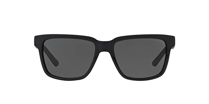 6c118aea55ce Armani Exchange Mens Sunglasses (AX4026) Black Matte Grey Plastic -  Non-Polarized