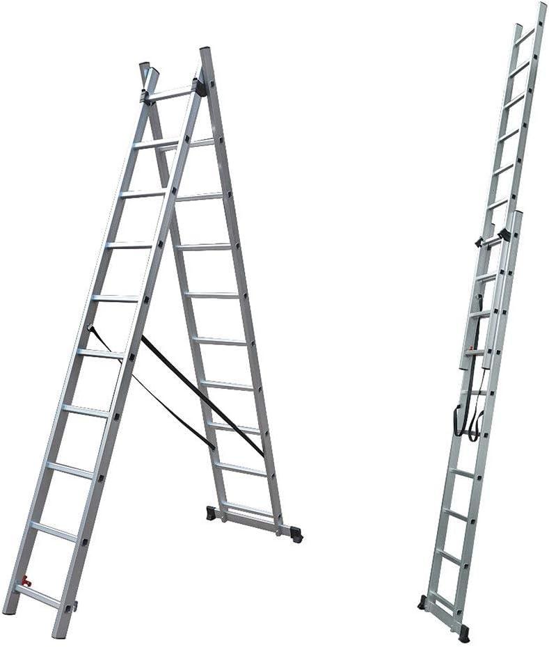 Escaleras genéricas en Extensores EN131 Sección E Aluminio Comercio Master M Comercio Escaleras de extensión m Trade M: Amazon.es: Electrónica