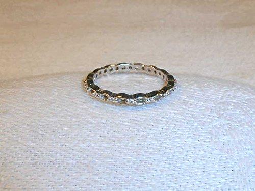 Gorgeous Estate 18K White Gold Hidalgo Diamond Bird Stack Band Ring
