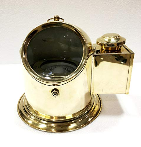 Antique Vintage Brass Floating Dial Binnacle Gimbled Compass Nautical Ship/Boat Oil Lamp by Antique (Image #6)