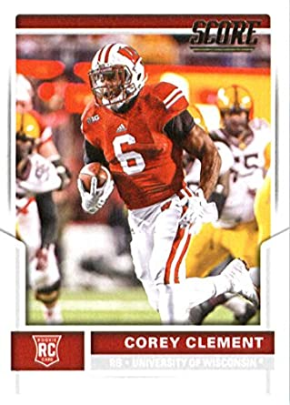 40507caf5 Amazon.com  2017 Score  355 Corey Clement Wisconsin Badgers Rookie ...
