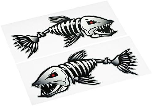 Home Decor Home, Furniture & DIY Skeleton Fish Decals Sticker