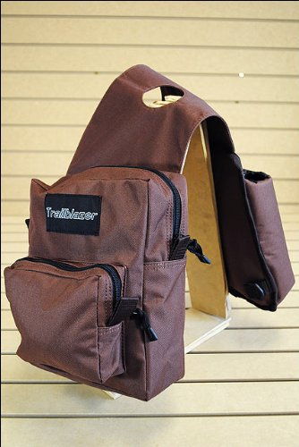 BROWN Poly Deluxe Horn Bag With 2 Water Bottles And 2 Compartments