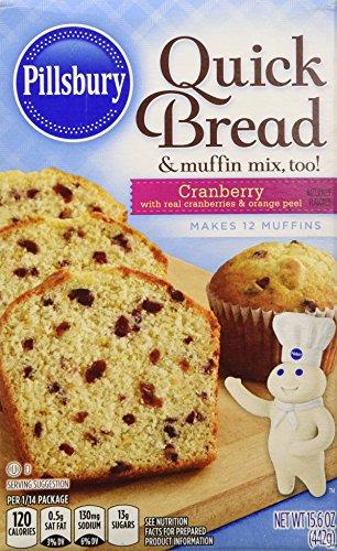 Pillsbury Cranberry Flavored Quick Bread & Muffin Mix, 15.6 oz (Cranberry Bread)