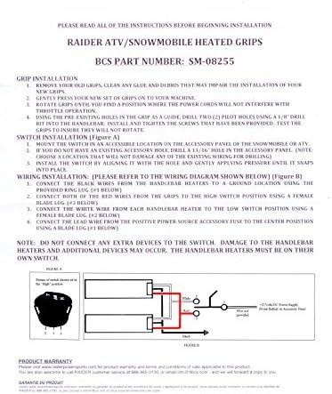 Amazon.com: Raider, SM-08255, Heated Grips Snowmobile ATV Electric  Handwarmer Kit for 7/8