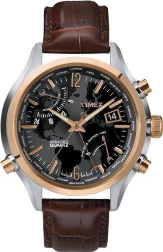 Timex Intelligent T2N942AU - Reloj de Cuarzo para Hombres, Correa de Piel, Color marrón