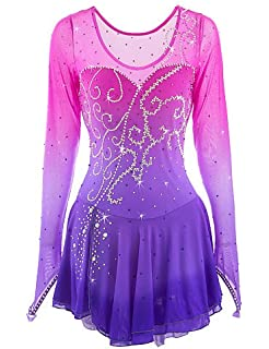 e08e42f60d8a3 Amazon.com: Skating Queen Ice Skating Dress for Girls, Figure ...