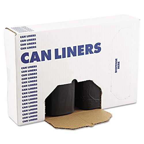 Boardwalk 519 SH Grade Repro Can Liners, 38x58, 60gal, 1.2mil, Black, 10 Bags per Roll (Case of 10 Rolls)