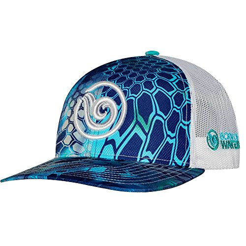 Hat Diver (Born of Water Scuba Diver Kryptek Camo Trucker Hat: Spearfishing | Fishing: Monsoon - White)