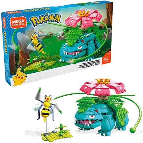 chollos oferta descuentos barato Mega Construx Pokemon Figuras Venesaur Versus Beedrill Duel Juguetes Niños 8 Años Mattel FVK76