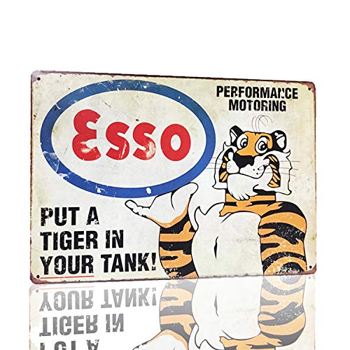 - MMOUNT Esso Put A Tiger in Your Tanx Metal Tin Sign Wall Sign by Retro Style Bar Back Diner Cafe Home Art Poster Plaque House Gift 12X8Inch