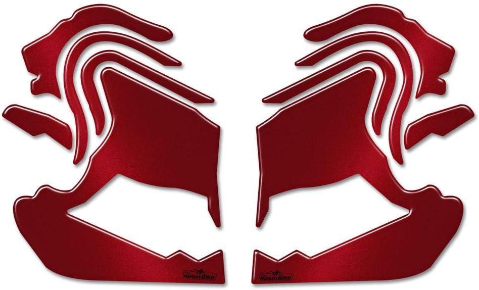Benelli Leoncino 500 2017-18 Adesivi Resinati Protezioni Laterali Serbatoio Rosso Metal