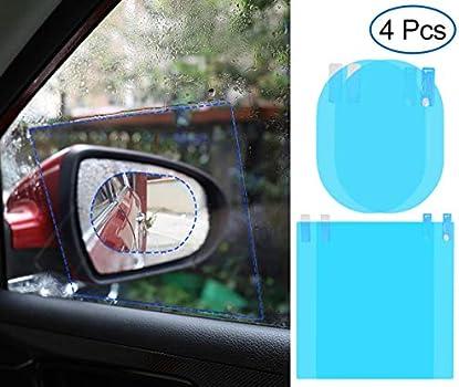 RBHK 4 Pcs Car Rearview Mirror Film Anti Fog Film Rainproof Rear View Mirror ...