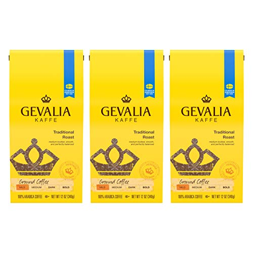 Gevalia Traditional Blend Mild Roast, 12 Ounce Bag (Pack of 3)