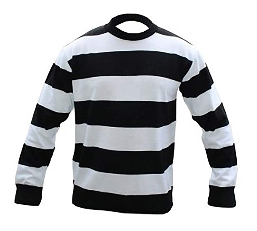 fashioncrazexx Boys Red and White Green Black Stripes Long Sleeves Girls Knitted Jumper Kids Halloween Fancy Parties Sweat Shirt Top
