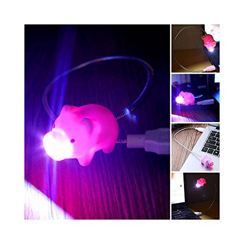 Cute LED USB Light, Adorable Pig USB Mini LED Light - Perfect for Laptops & Computers! by RED SHIELD (Image #4)