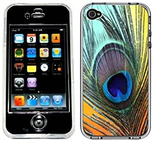 Peacock Feather Handmade ipod touch 4 Full Hard Plastic Case