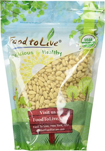 Food To Live ® Organic Pine Nuts / Pignolias (1 Pound)
